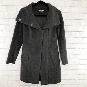 Betabrand Dark Gray Hooded All Day Coat Size Small